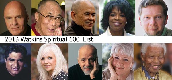 Watkins' Spiritual 100 List for 2013