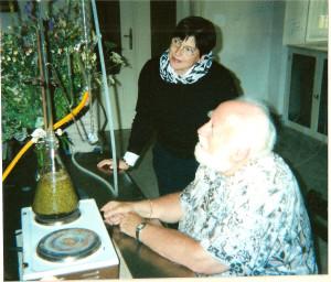 Clare Goodrick-Clarke with Manfred M. Junius