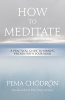HOW TO MEDITATE: A Practical Guide to Making Friends with Your Mind by Pema Chödrön, published by Sounds True, hardback and eBook (184 pages)