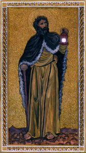 Byzantine Tarot,The Hermit