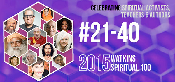 # 21-40 on the Spiritual 100 List in 2015