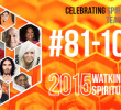 # 81-100 on the Spiritual 100 List in 2015