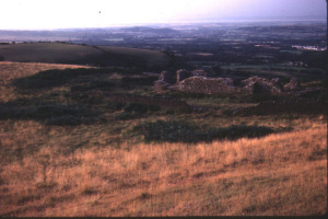 ruins of church on hill where arthur buried