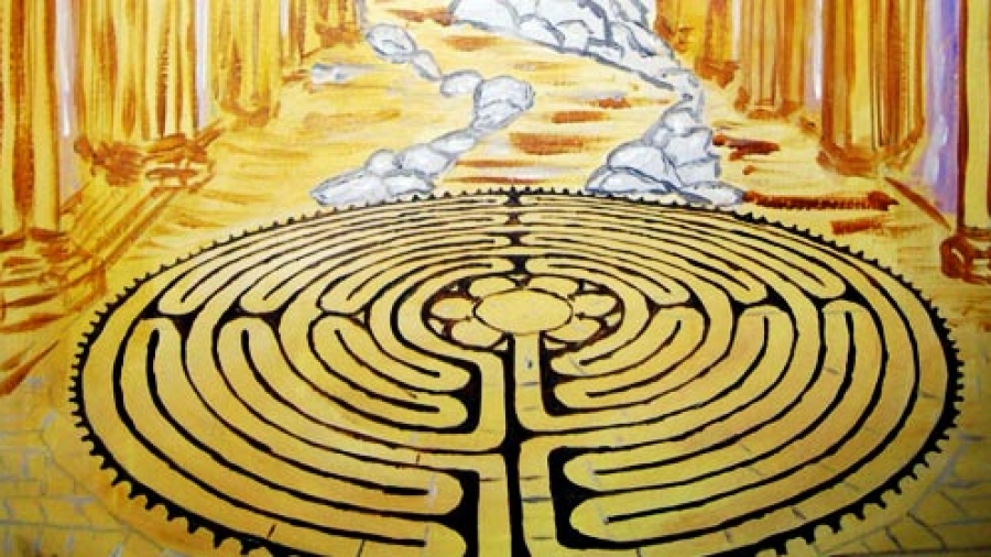 Sacred Path Card (c) Labyrinth Wisdom Cards by Tony Christie