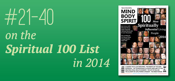 #21-40 on the Spiritual 100 List in 2014