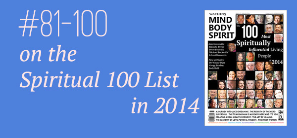 #81-100 on the Spiritual 100 List in 2014