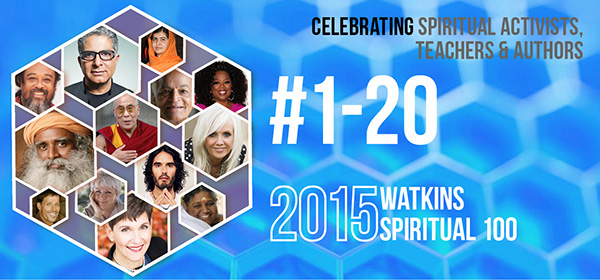 # 1-20 on the Spiritual 100 List in 2015