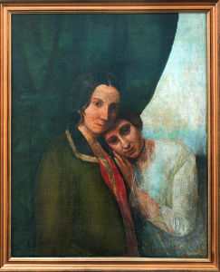 "A painting of Blavatsky and her mother, titled ""Two Helens (Helena Hahn and Helena Blavatsky)"" 1844–1845"